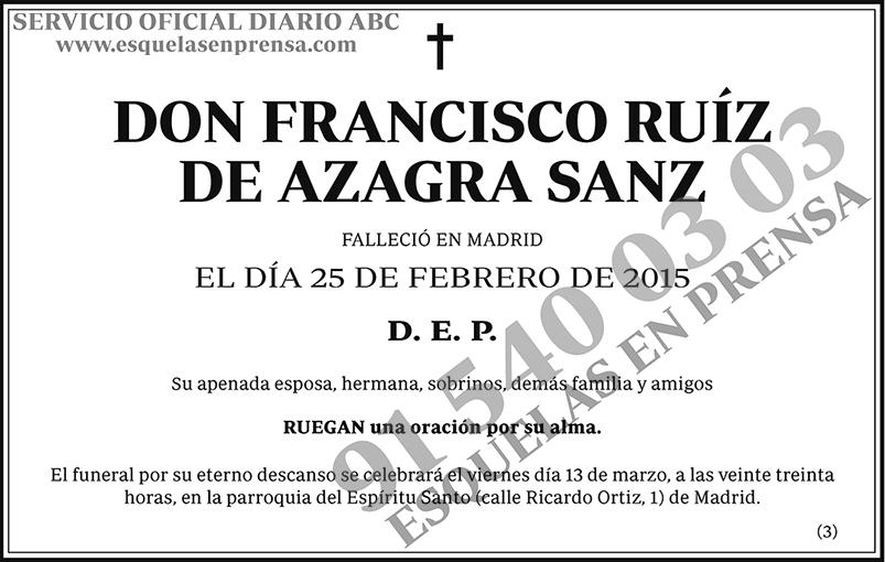 Franscisco de Azagra Sanz